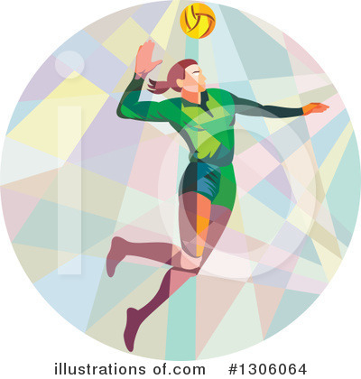 Volleyball Clipart #1306064 by patrimonio