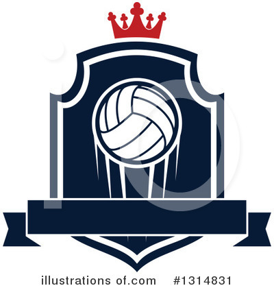 Volleyball Clipart #1314831 by Vector Tradition SM