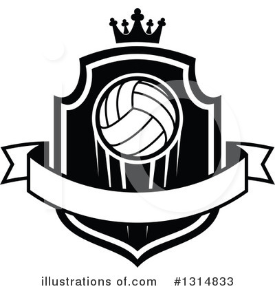 Volleyball Clipart #1314833 by Vector Tradition SM