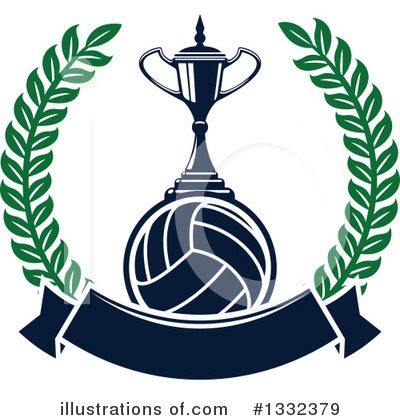 Volleyball Clipart #1332379 by Vector Tradition SM