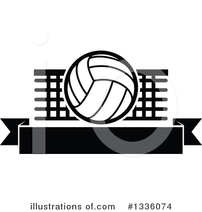 Volleyball Clipart #1336074 by Vector Tradition SM