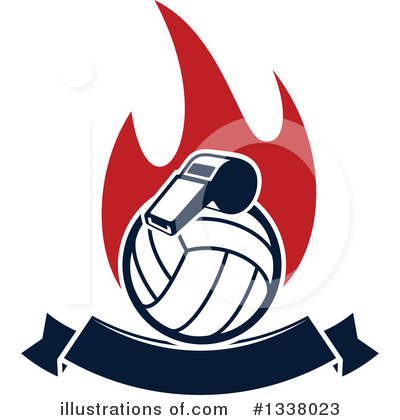 Volleyball Clipart #1338023 by Vector Tradition SM