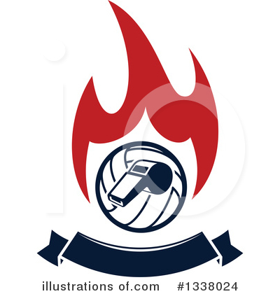 Volleyball Clipart #1338024 by Vector Tradition SM