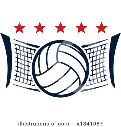 Volleyball Clipart #1341087 by Vector Tradition SM