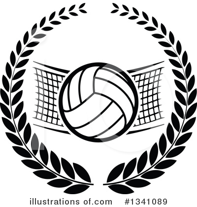 Royalty-Free (RF) Volleyball Clipart Illustration by Vector Tradition SM - Stock Sample #1341089