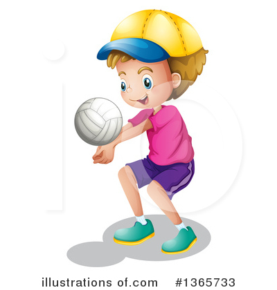 Volleyball Clipart #1365733 by Graphics RF