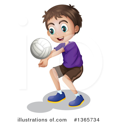 Volleyball Clipart #1365734 by Graphics RF