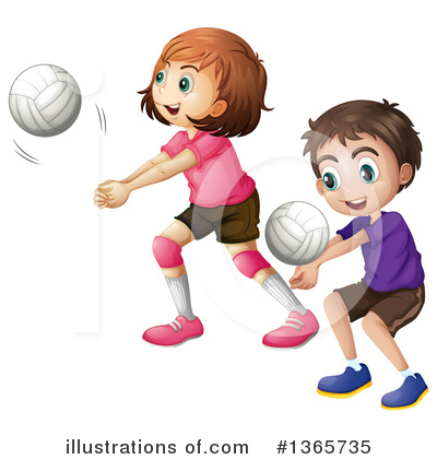 Volleyball Clipart #1365735 by Graphics RF