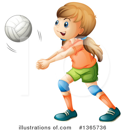 Volleyball Clipart #1365736 by Graphics RF