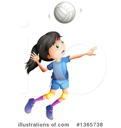 Volleyball Clipart #1365738 by Graphics RF
