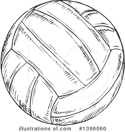 Volleyball Clipart #1396060 by Vector Tradition SM