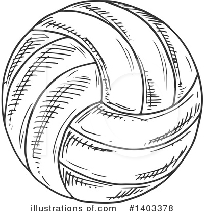 Volleyball Clipart #1403378 by Vector Tradition SM