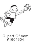 Volleyball Clipart #1604504 by Johnny Sajem