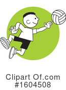 Volleyball Clipart #1604508 by Johnny Sajem