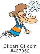 Royalty-Free (RF) Volleyball Clipart Illustration #437062