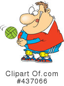 Royalty-Free (RF) Volleyball Clipart Illustration #437066