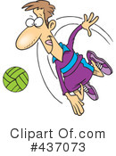 Royalty-Free (RF) Volleyball Clipart Illustration #437073