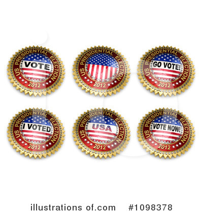 American Flag Clipart #1098378 by stockillustrations