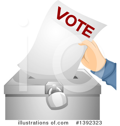 Vote Clipart #1392323 by BNP Design Studio