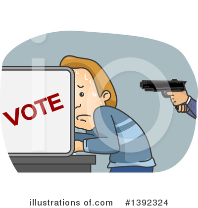 Vote Clipart #1392324 by BNP Design Studio