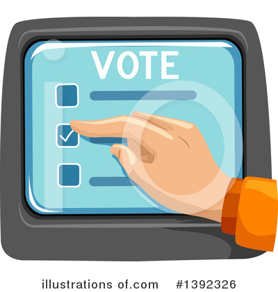 Voting Clipart #1392326 by BNP Design Studio