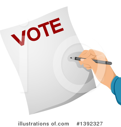 Vote Clipart #1392327 by BNP Design Studio