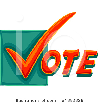 Vote Clipart #1392328 by BNP Design Studio