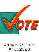 Royalty-Free (RF) Vote Clipart Illustration #1392328