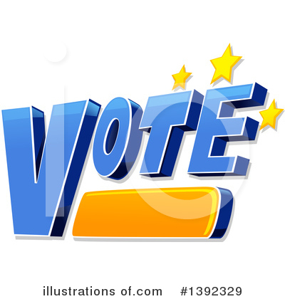 Vote Clipart #1392329 by BNP Design Studio