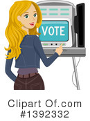 Vote Clipart #1392332 by BNP Design Studio
