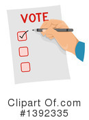 Vote Clipart #1392335 by BNP Design Studio