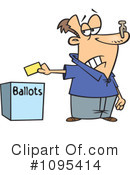 Royalty-Free (RF) voting Clipart Illustration #1095414