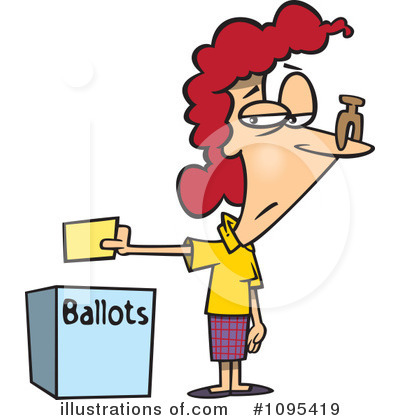 Voting Clipart #1095419 by toonaday