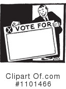 Royalty-Free (RF) Voting Clipart Illustration #1101466