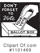 Royalty-Free (RF) Voting Clipart Illustration #1101469