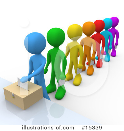 Royalty-Free (RF) Voting Clipart Illustration by 3poD - Stock Sample #15339