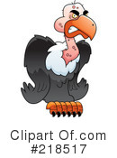 Royalty-Free (RF) Vulture Clipart Illustration #218517