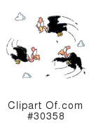 Royalty-Free (RF) Vultures Clipart Illustration #30358