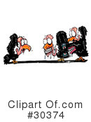 Royalty-Free (RF) Vultures Clipart Illustration #30374