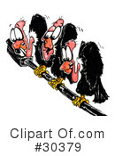Royalty-Free (RF) Vultures Clipart Illustration #30379
