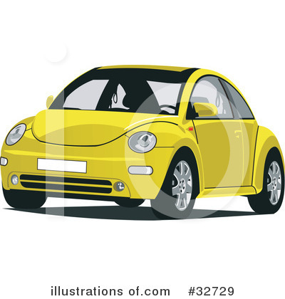 Royalty-Free  RF  Vw Bug Clipart Illustration by David Rey - Stock    Vw Bug Clipart
