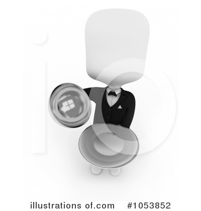 Waiter Clipart #1053852 by BNP Design Studio