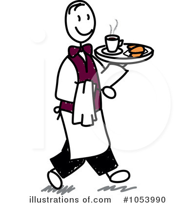 Clip Art Waiter Clipart waiter clipart 1053990 illustration by frog974 royalty free rf frog974