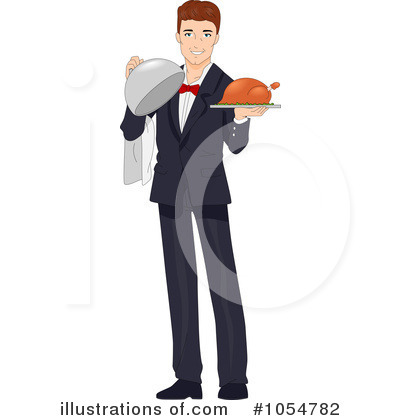 Waiter Clipart #1054782 by BNP Design Studio