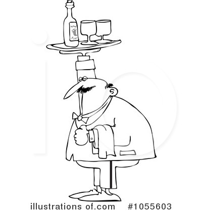 Waiter Clipart #1055603 by djart
