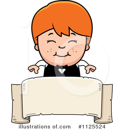 Waiter Clipart #1125524 by Cory Thoman