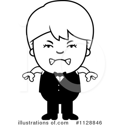 Waiter Clipart #1128846 by Cory Thoman