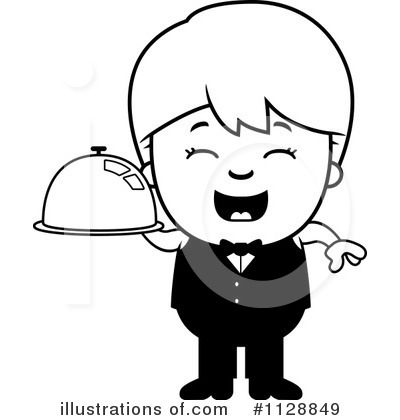 Waiter Clipart #1128849 by Cory Thoman