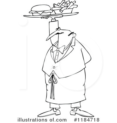 Waiter Clipart #1184718 by djart