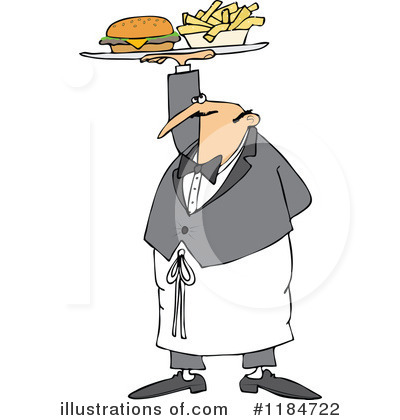 Waiter Clipart #1184722 by djart